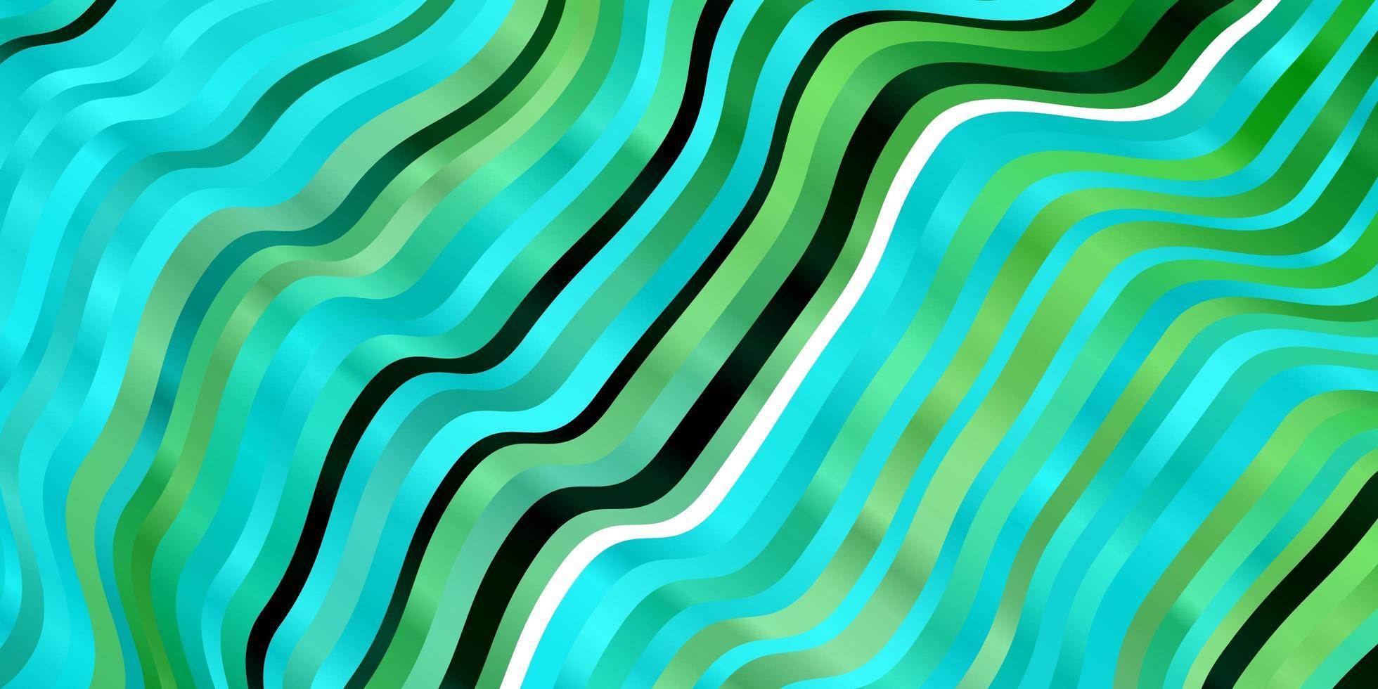 ljusblå, grön vektormall med kurvor. vektor