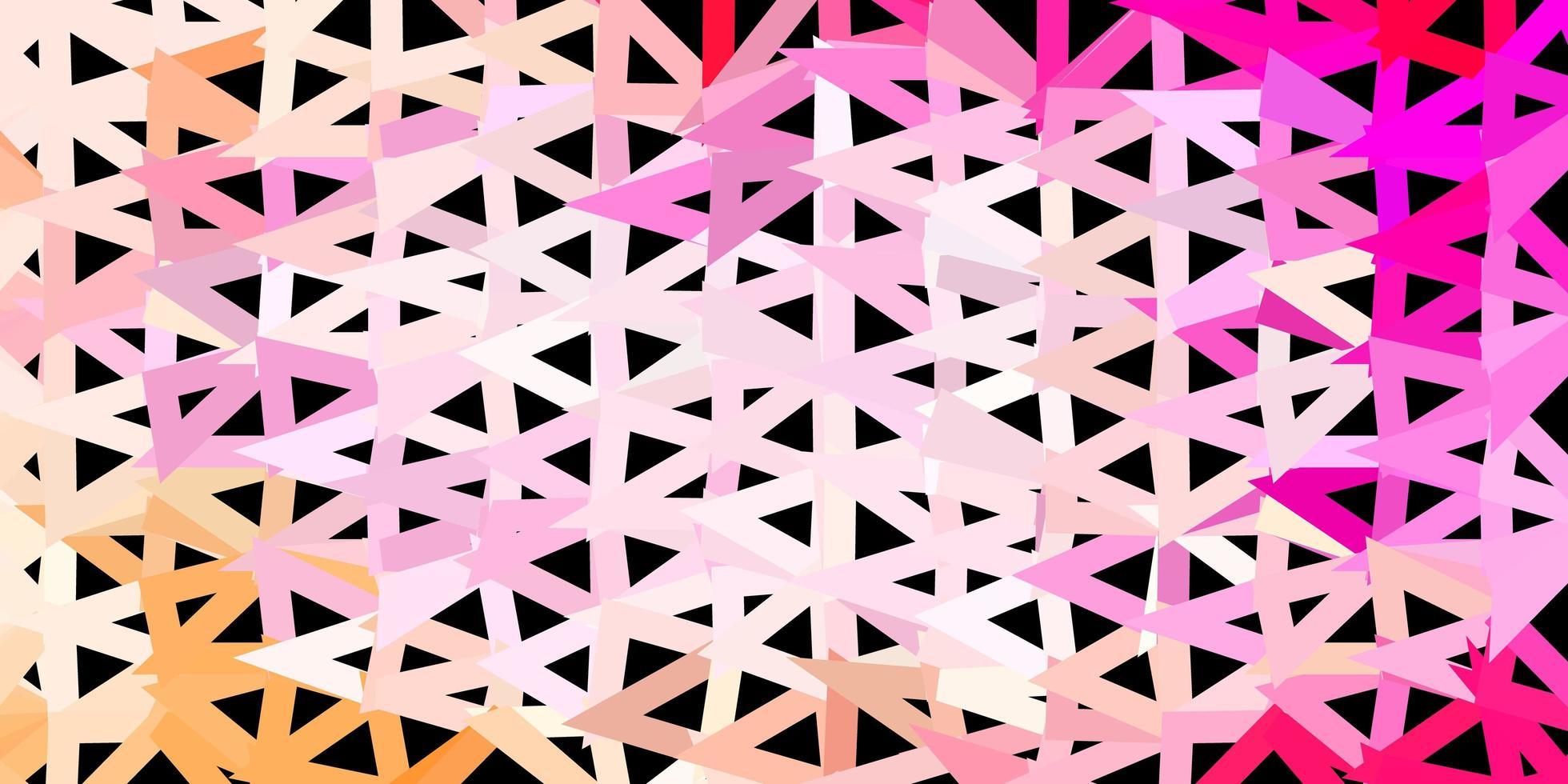ljusrosa vektor abstrakt triangel mönster.