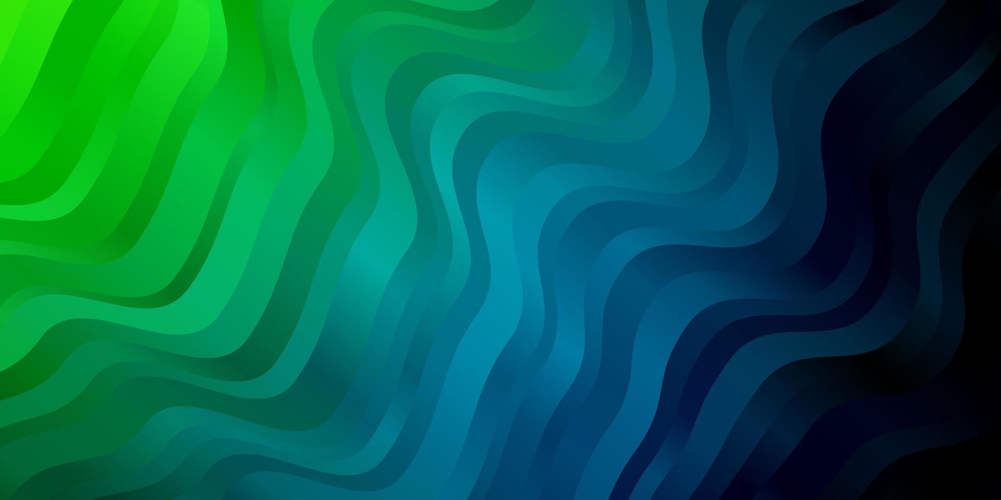 hellblaues, grünes Vektormuster mit Linien. vektor