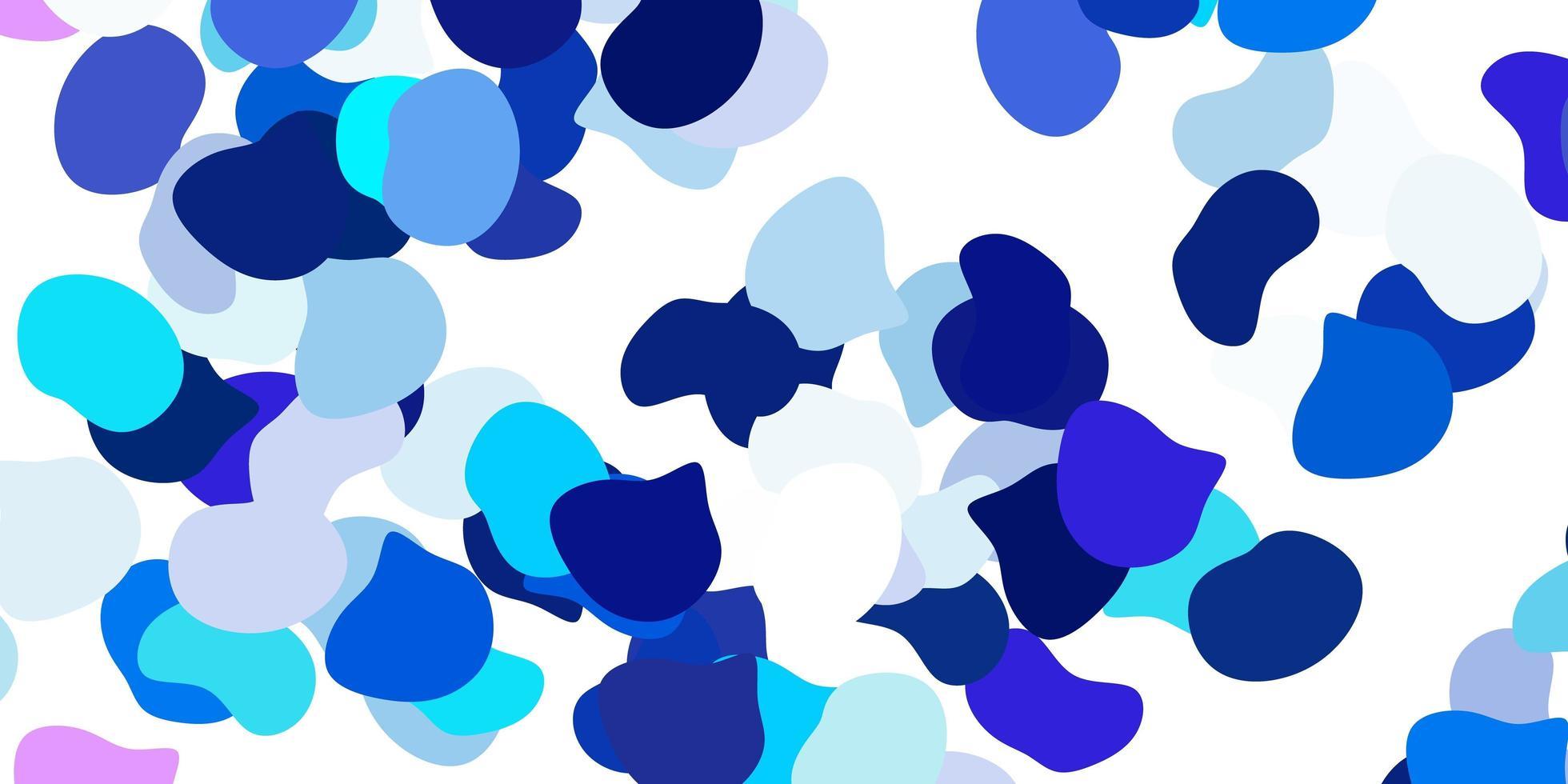hellrosa, blauer Vektorhintergrund mit chaotischen Formen. vektor