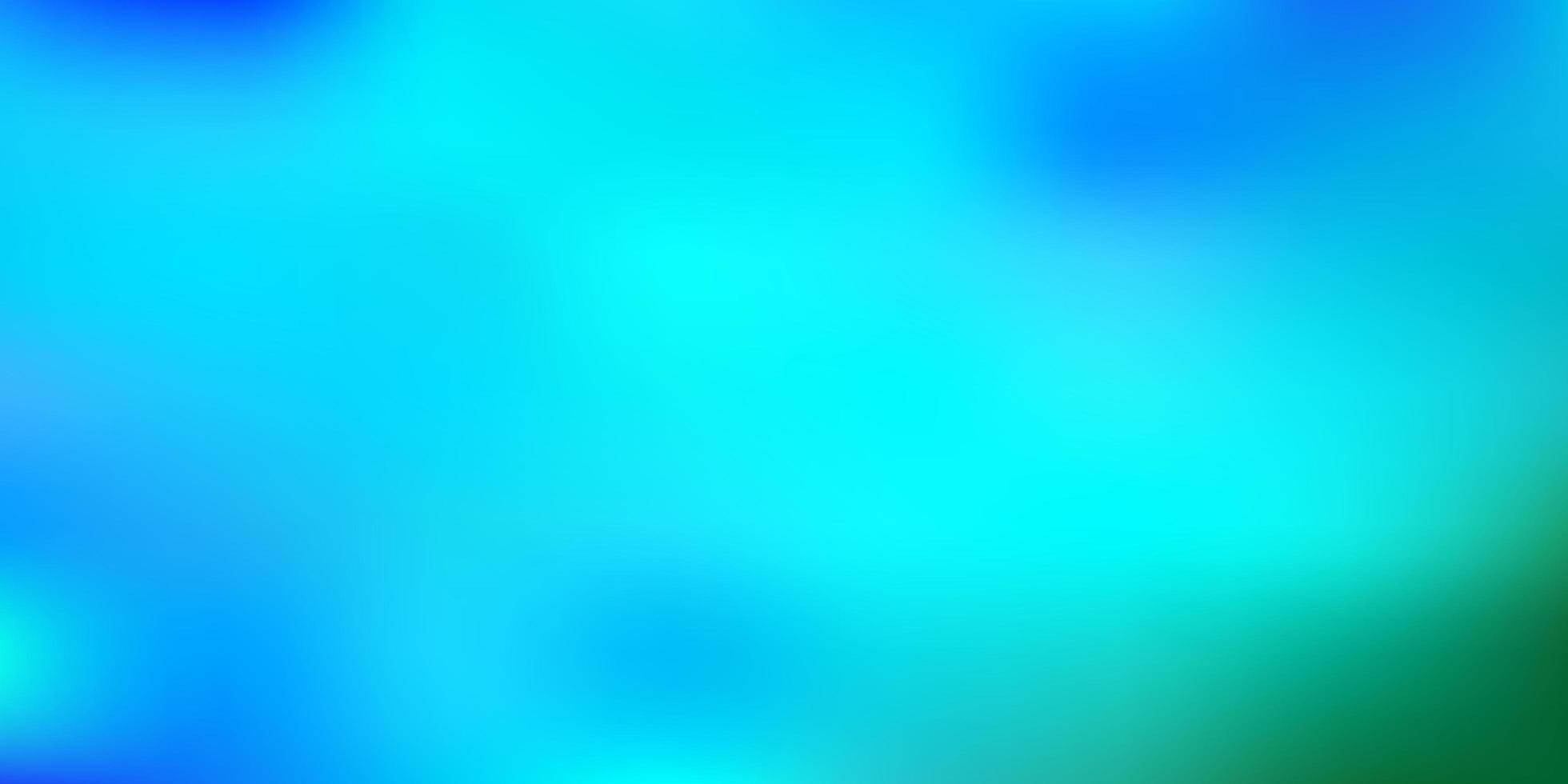 ljusblå, grön vektor gradient oskärpa layout.