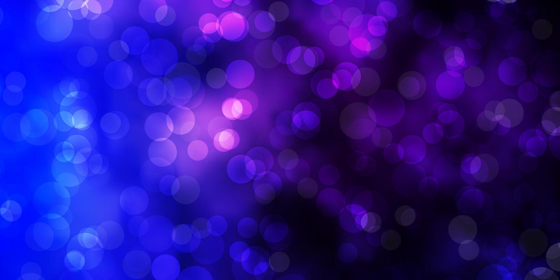 mörkrosa, blått vektormönster med sfärer. vektor