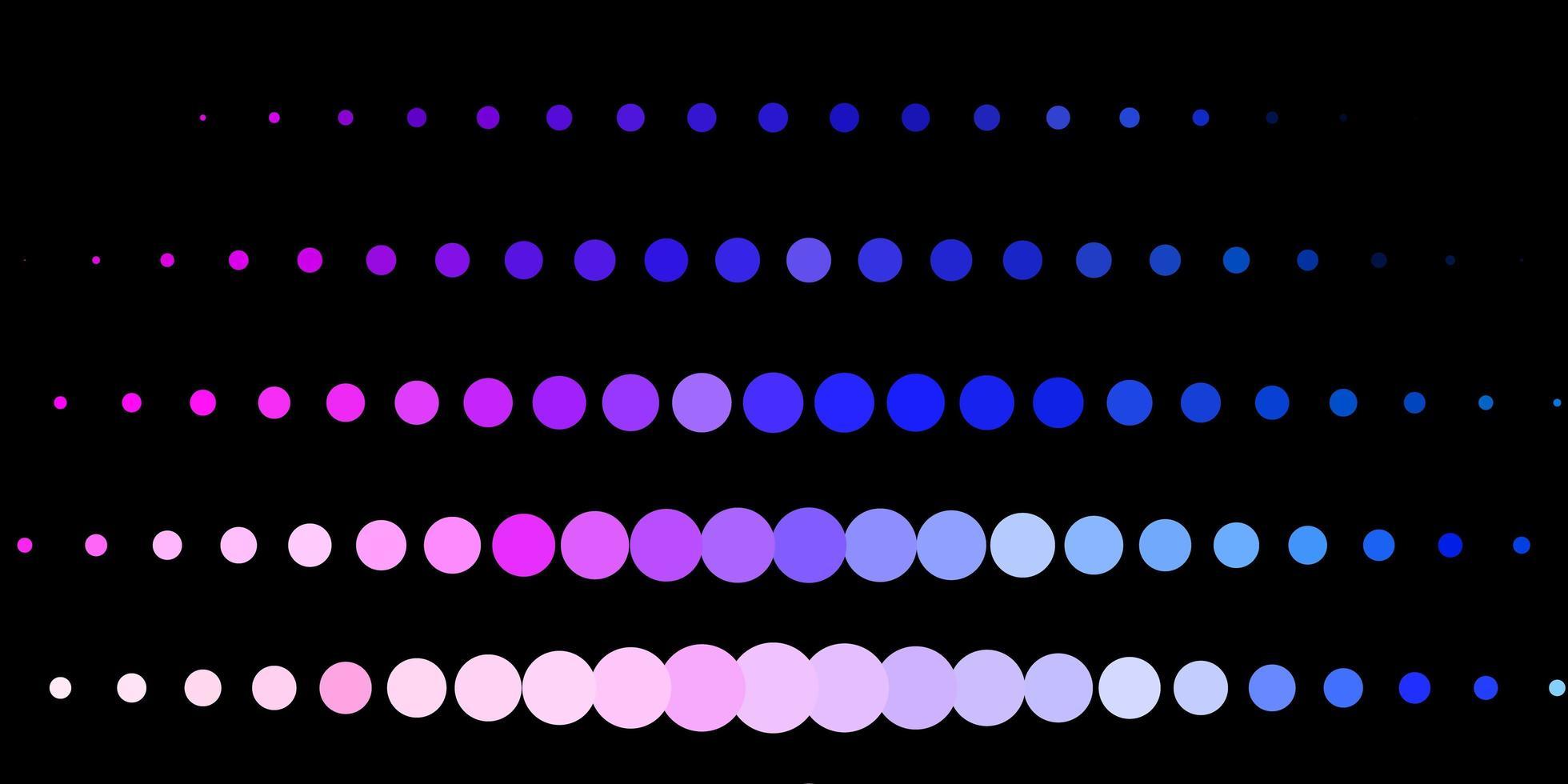 dunkelrosa, blaues Vektormuster mit Kugeln. vektor