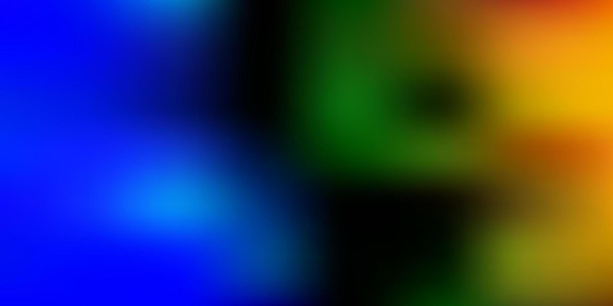 hellblaues, grünes Vektorverlaufsunschärfe-Layout. vektor
