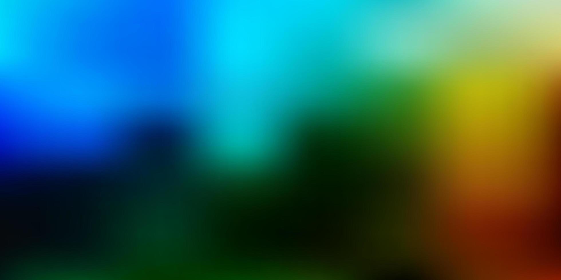 hellblauer, grüner Vektor unscharfer Hintergrund.