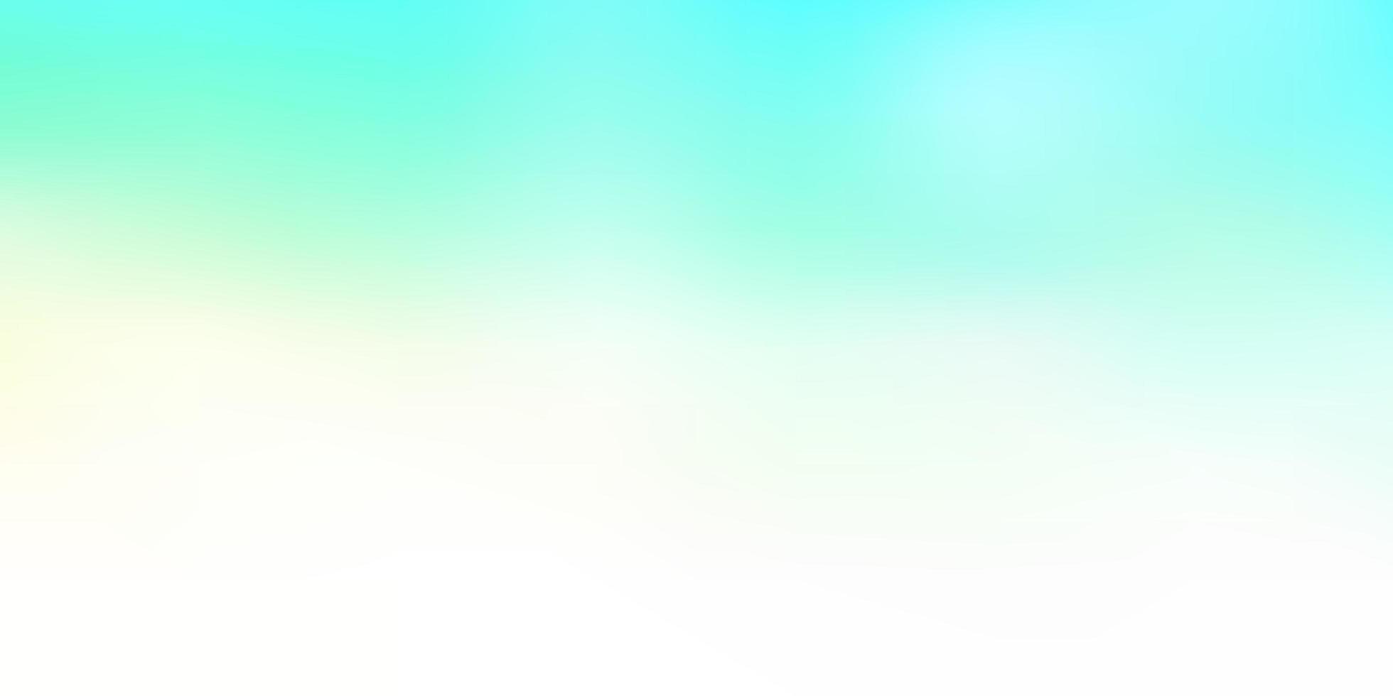 abstrakte Unschärfezeichnung des hellblauen, grünen Vektors. vektor