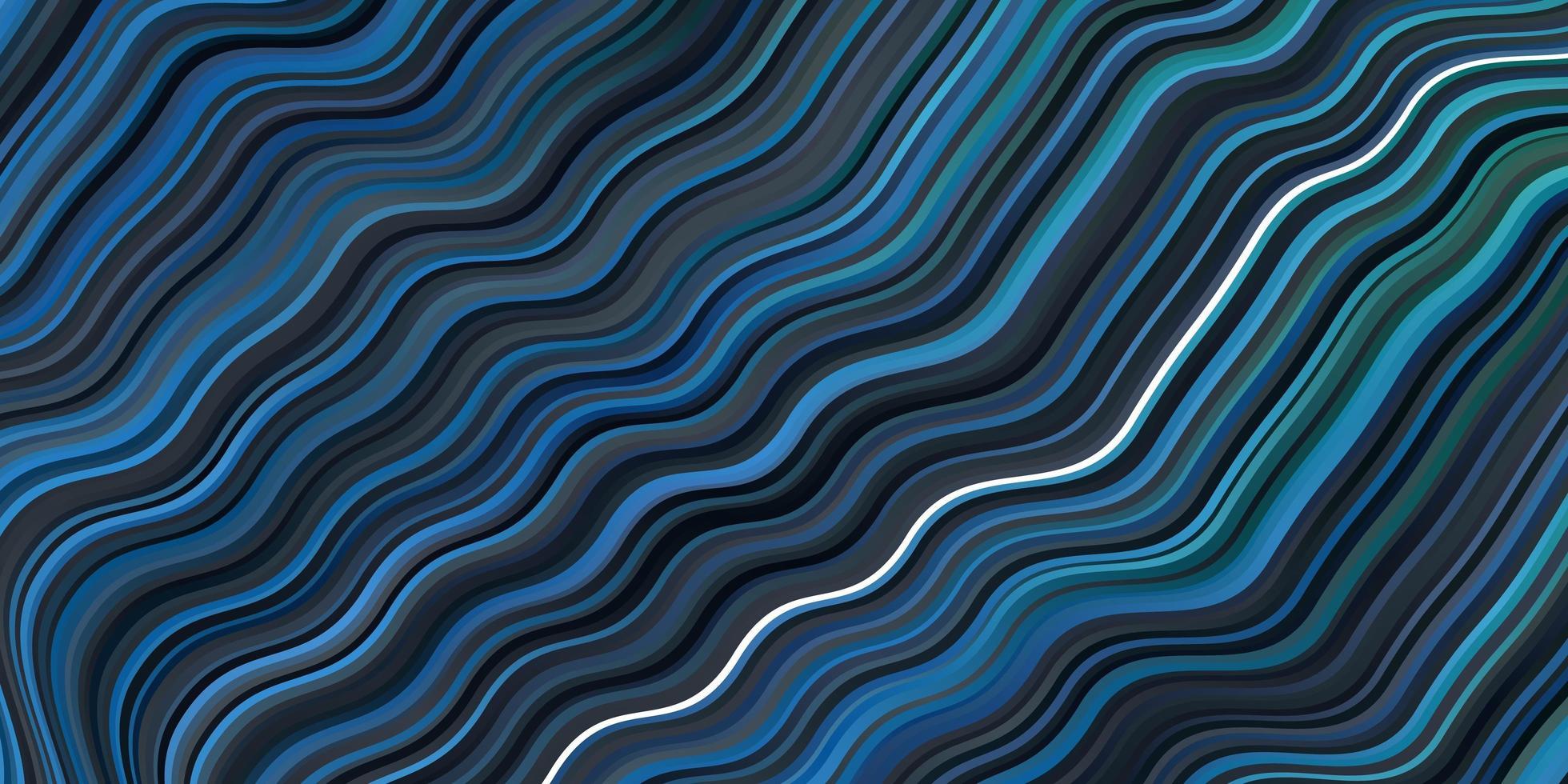 ljusblå, grön vektorbakgrund med böjda linjer. vektor