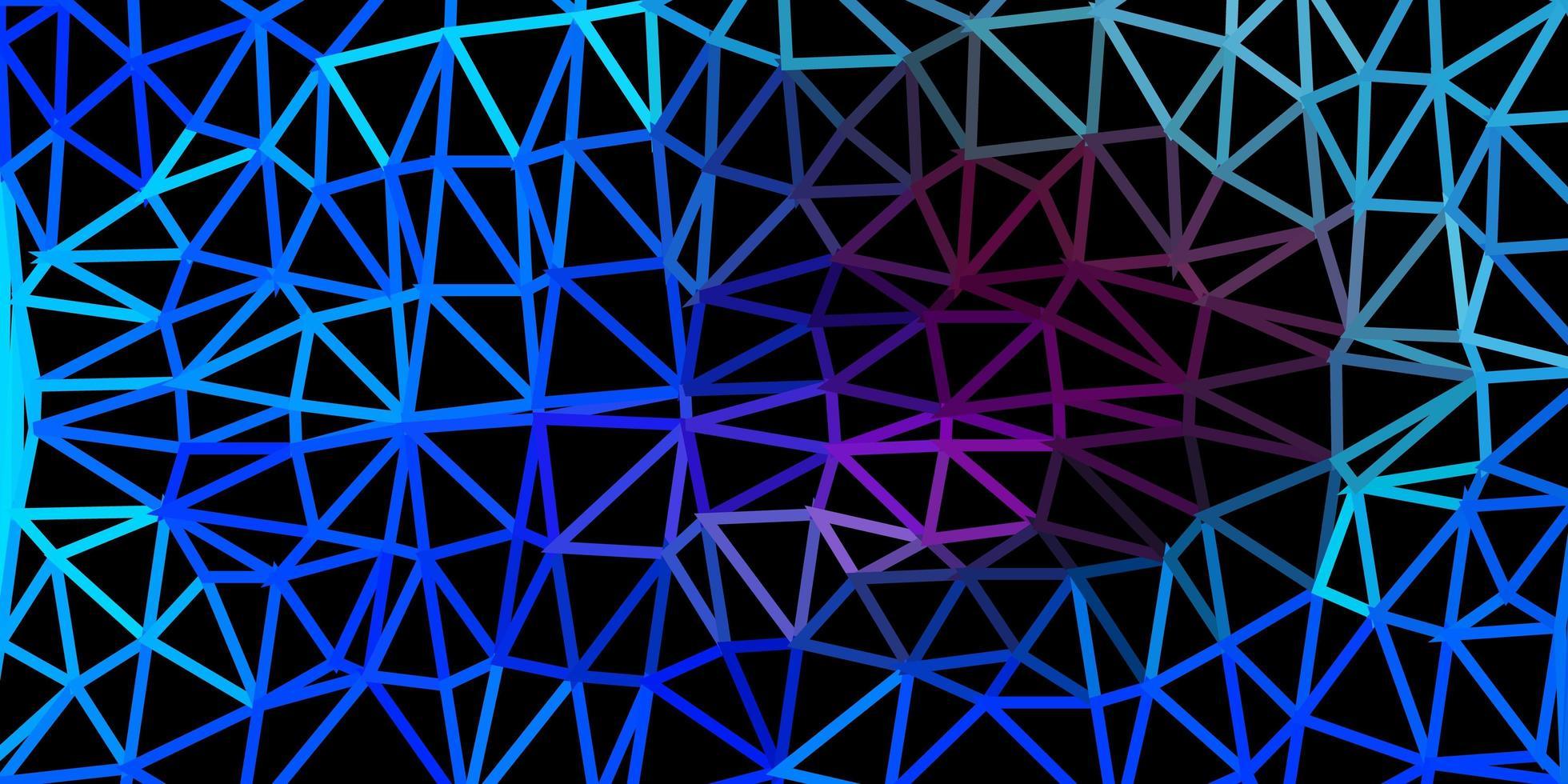 dunkelrosa, blauer Vektordreieckmosaikhintergrund. vektor