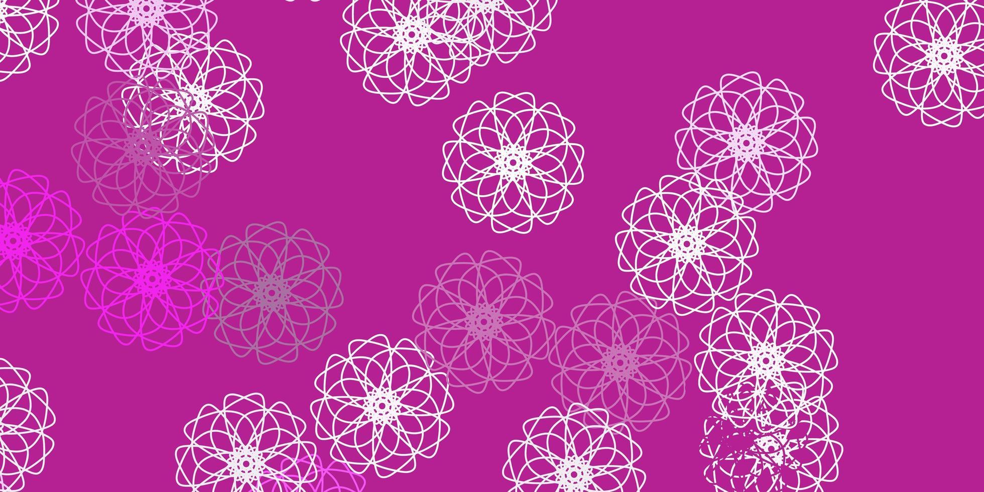 ljusrosa vektor naturlig bakgrund med blommor.