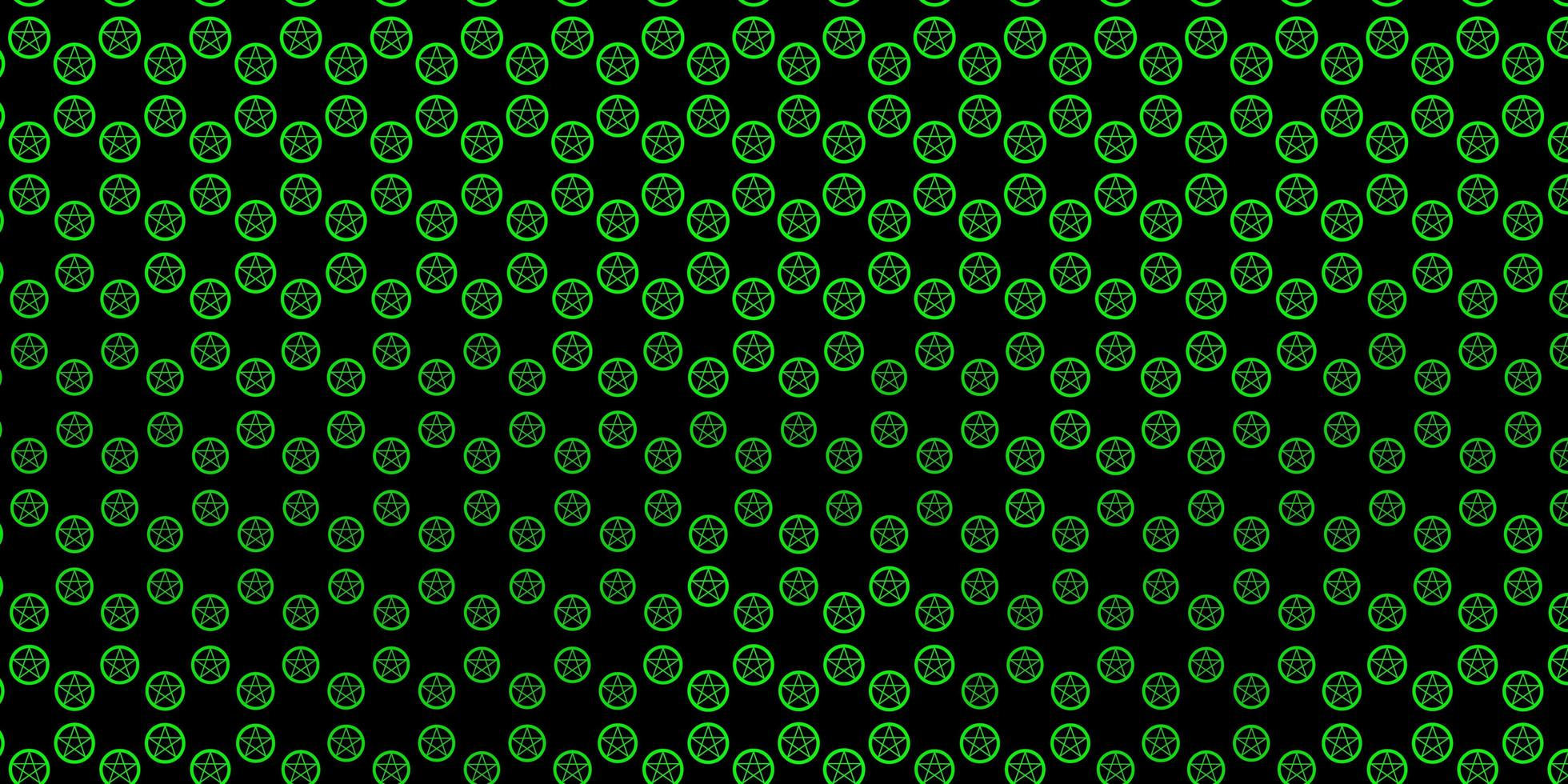 dunkelgrüne Vektorbeschaffenheit mit Religionssymbolen. vektor