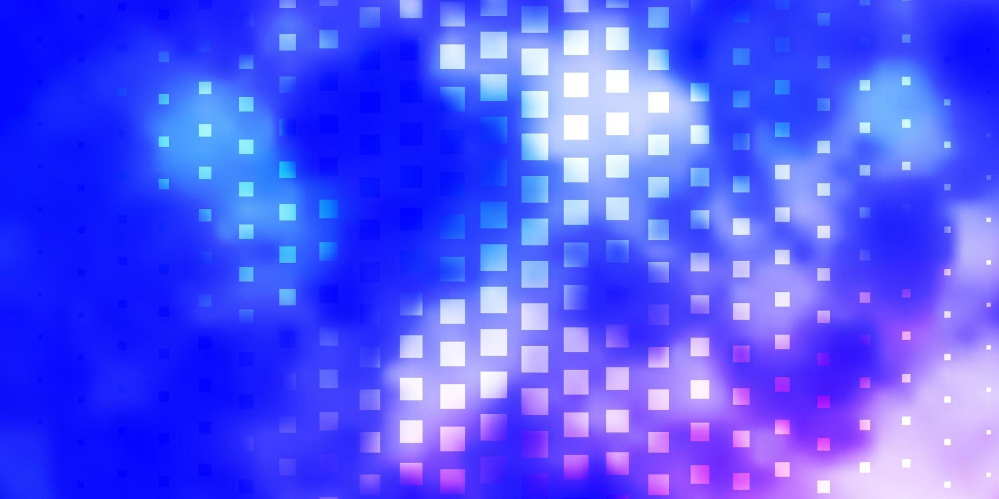 ljusrosa, blå vektorlayout med linjer, rektanglar. vektor