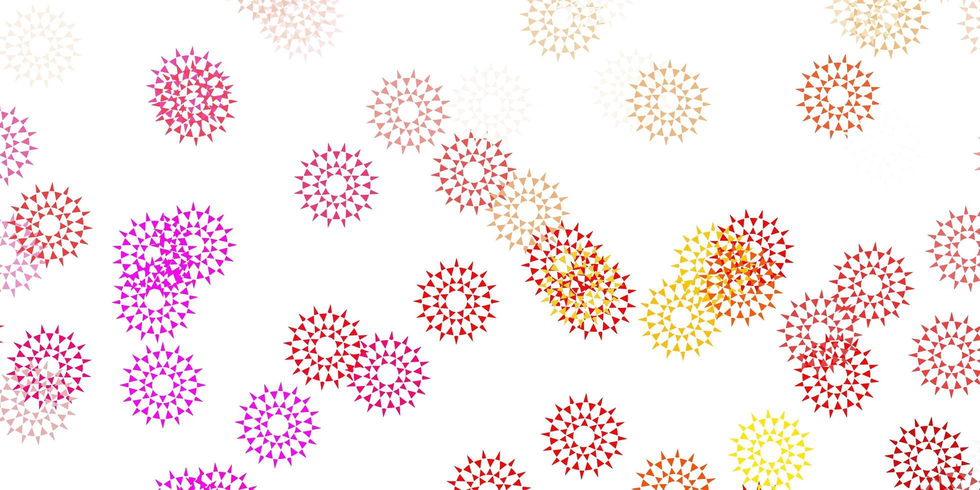 natürliches Layout des hellrosa, gelben Vektors mit Blumen. vektor