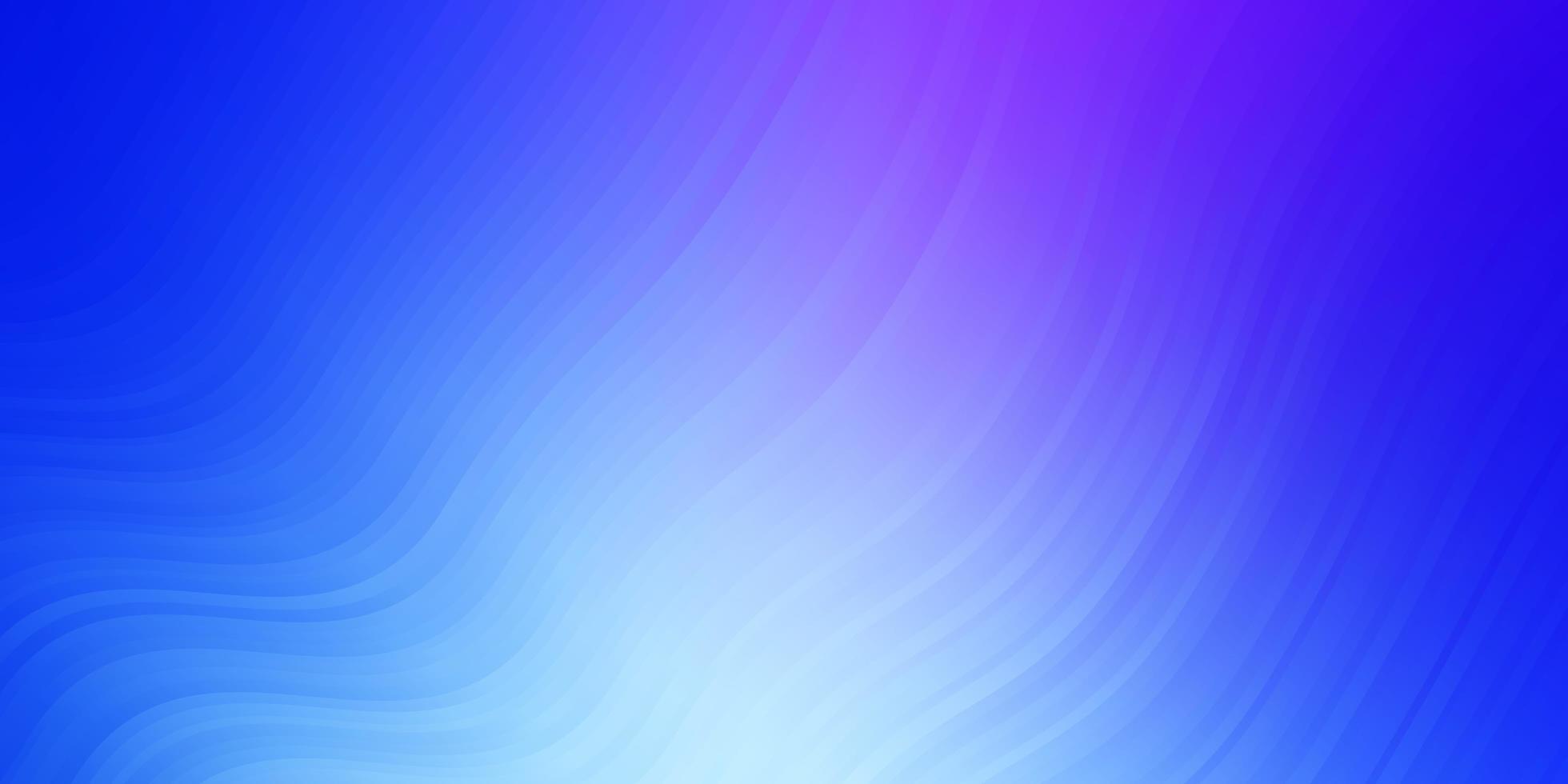 hellrosa, blaues Vektormuster mit gekrümmten Linien. vektor