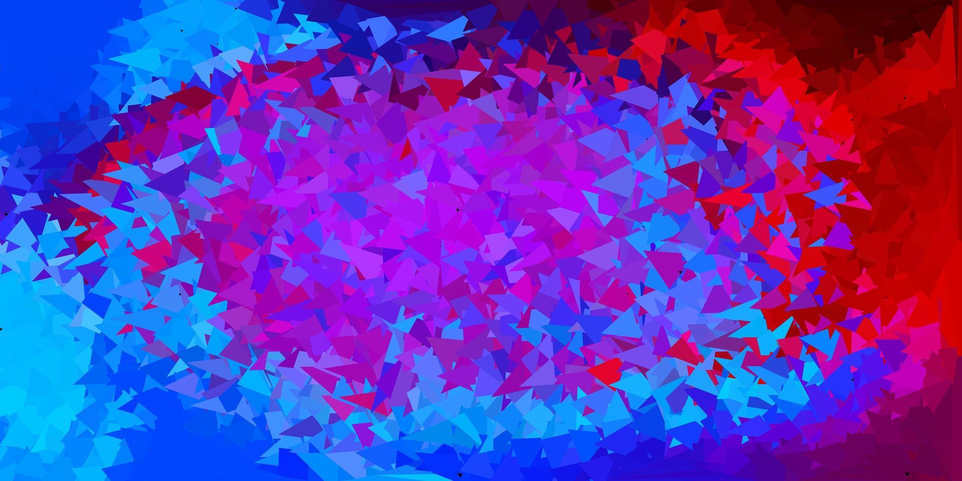 ljusblå, röd vektor poly triangel layout.