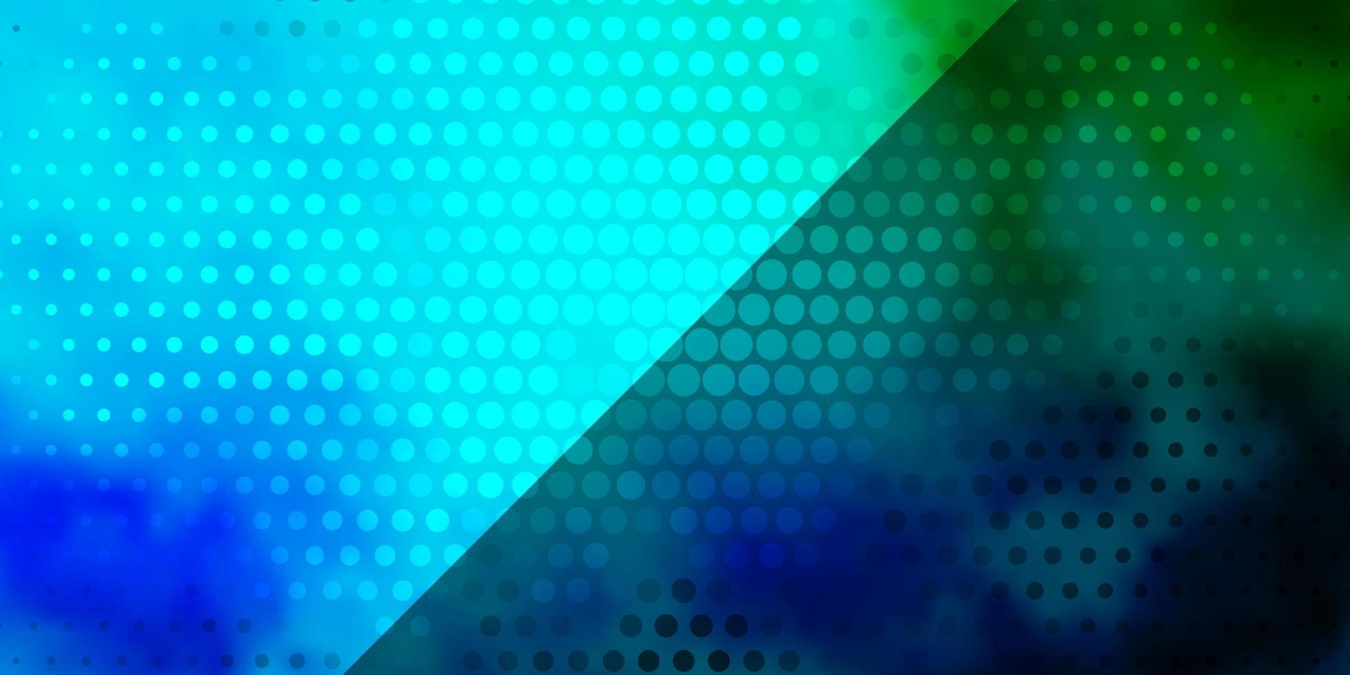 hellblauer, grüner Vektorhintergrund mit Kreisen. vektor