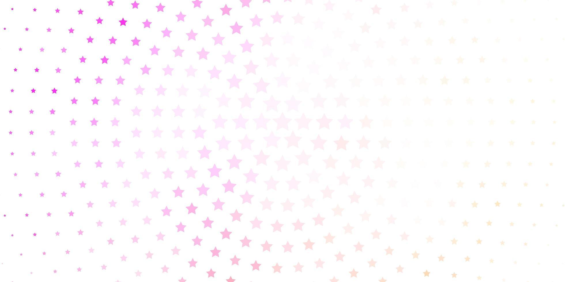 hellrosa Vektorhintergrund mit bunten Sternen. vektor