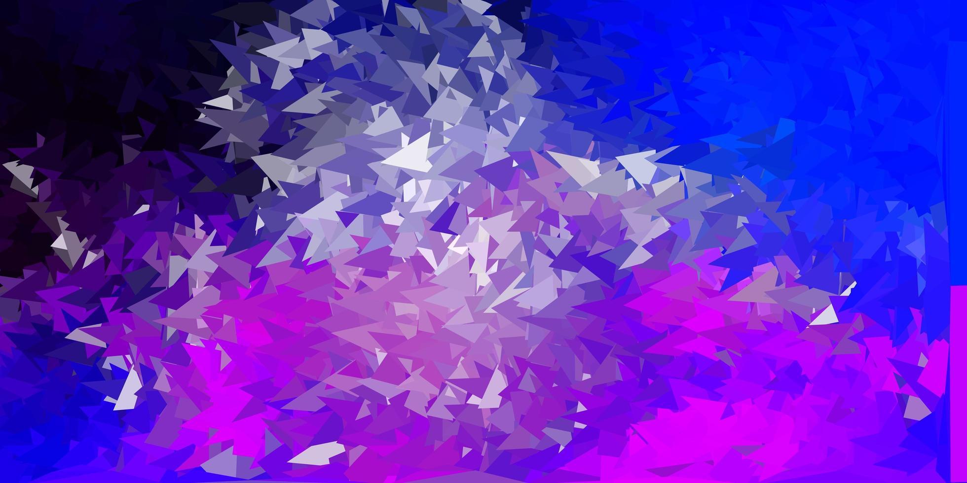 ljusrosa, blå vektor poly triangel layout.