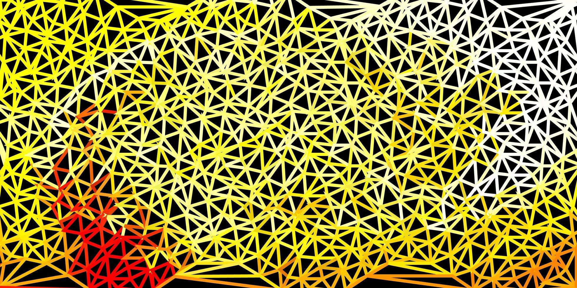 hellroter, gelber Vektordreieckmosaikhintergrund. vektor