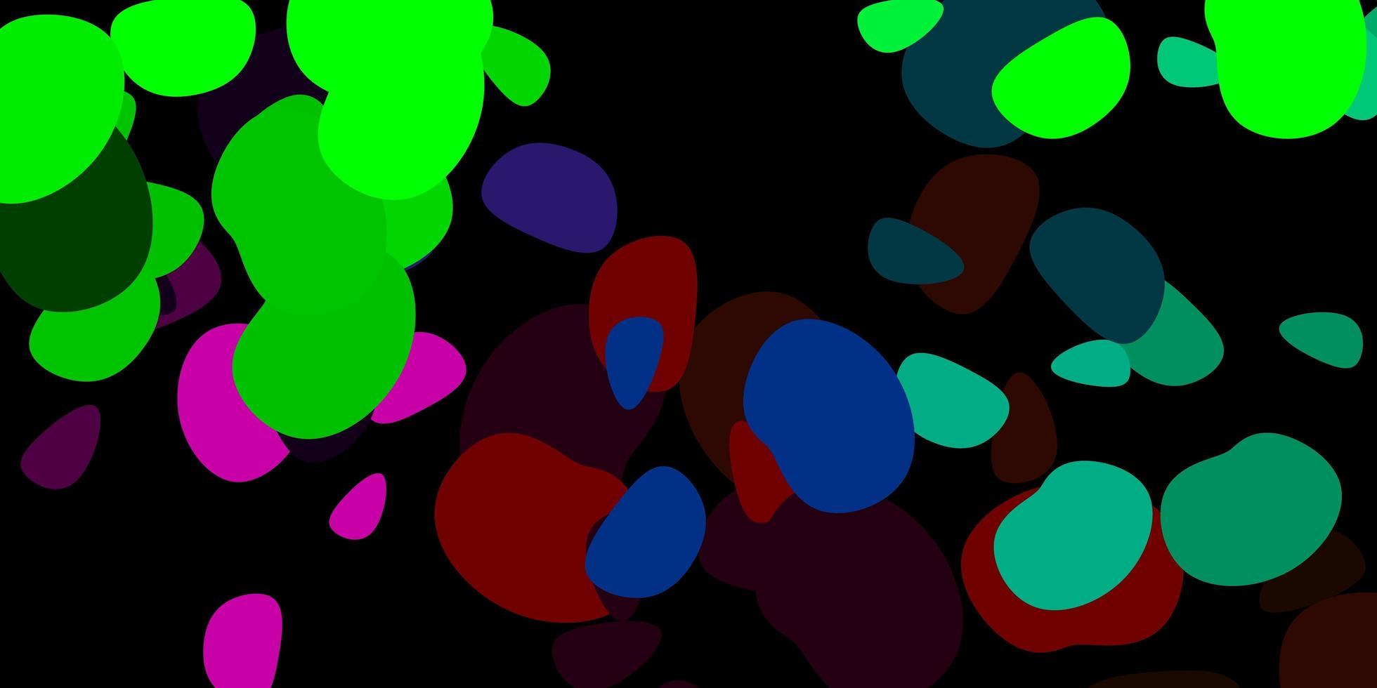 dunkelrosa, grüner Vektorhintergrund mit zufälligen Formen. vektor