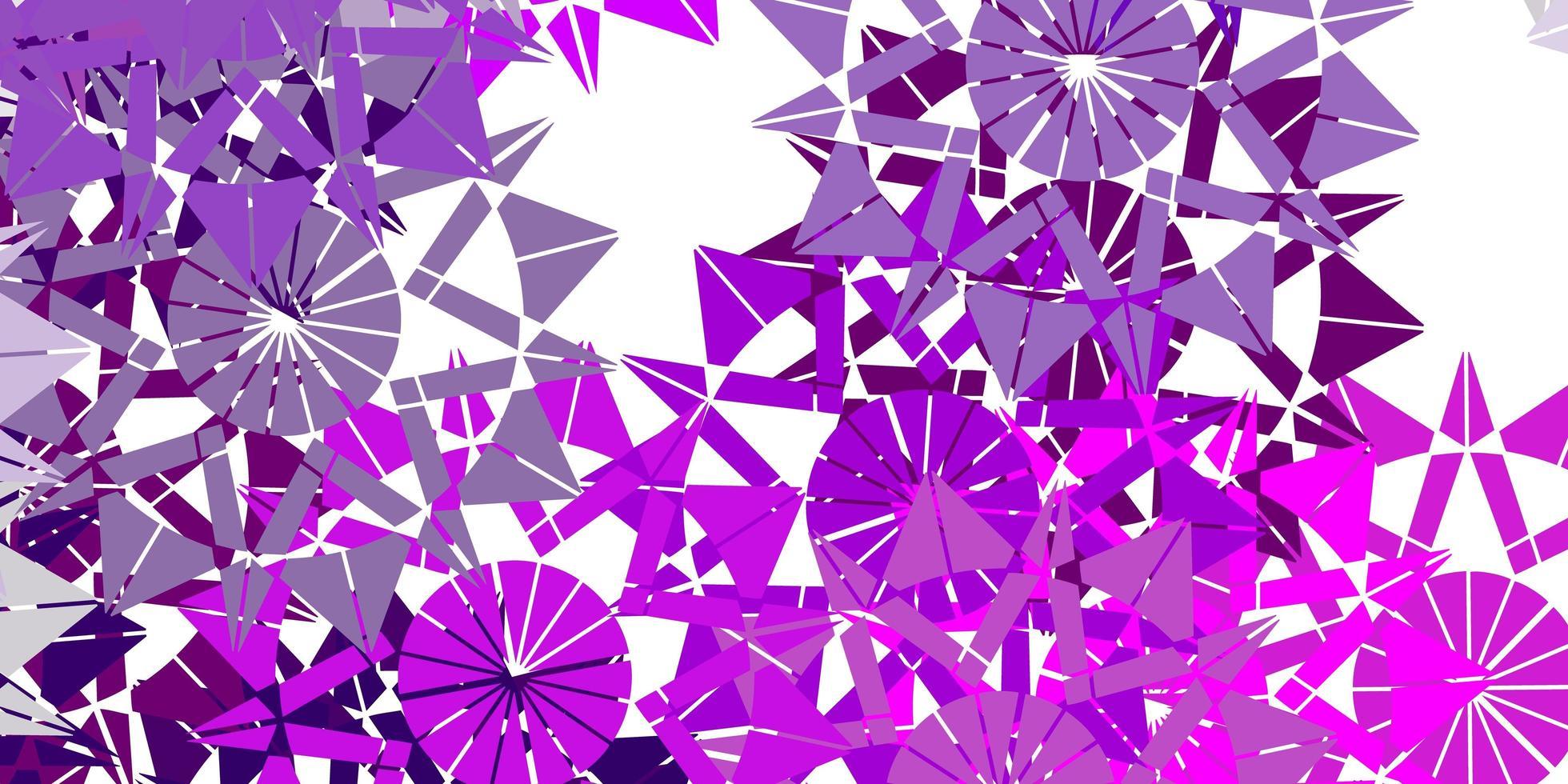 ljusrosa vektorbakgrund med julsnöflingor. vektor
