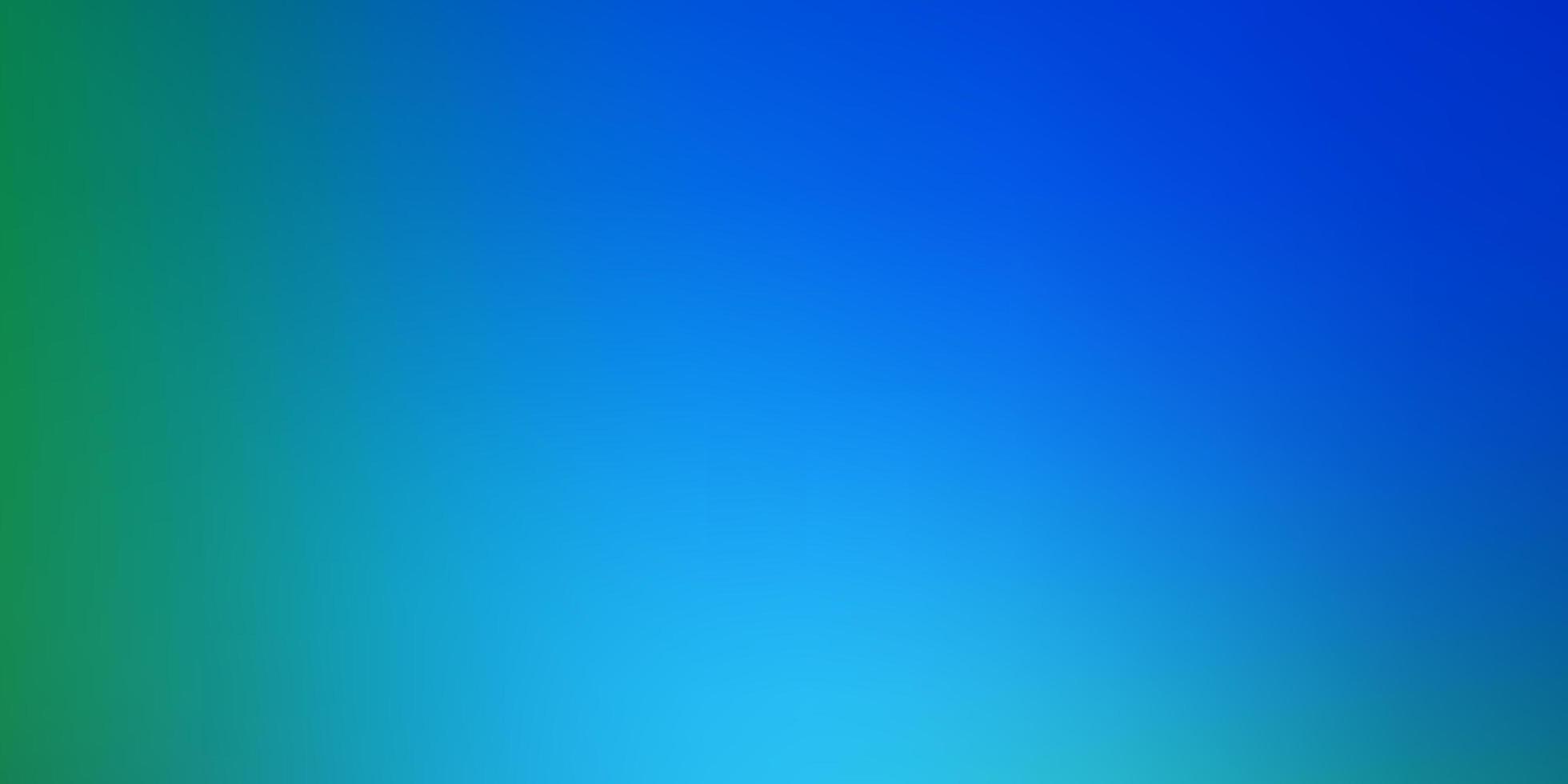 ljusblå, grön vektor abstrakt suddig bakgrund.