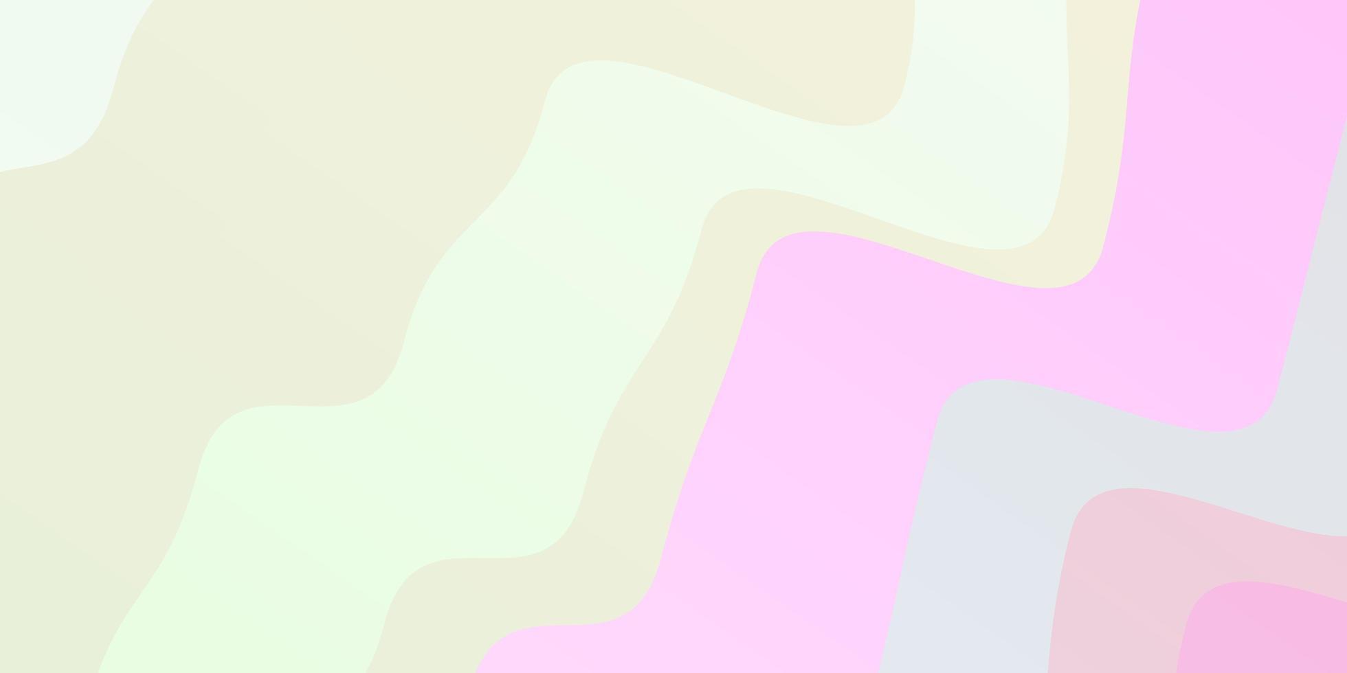 hellrosa, gelber Vektorhintergrund mit Kreisbogen. vektor