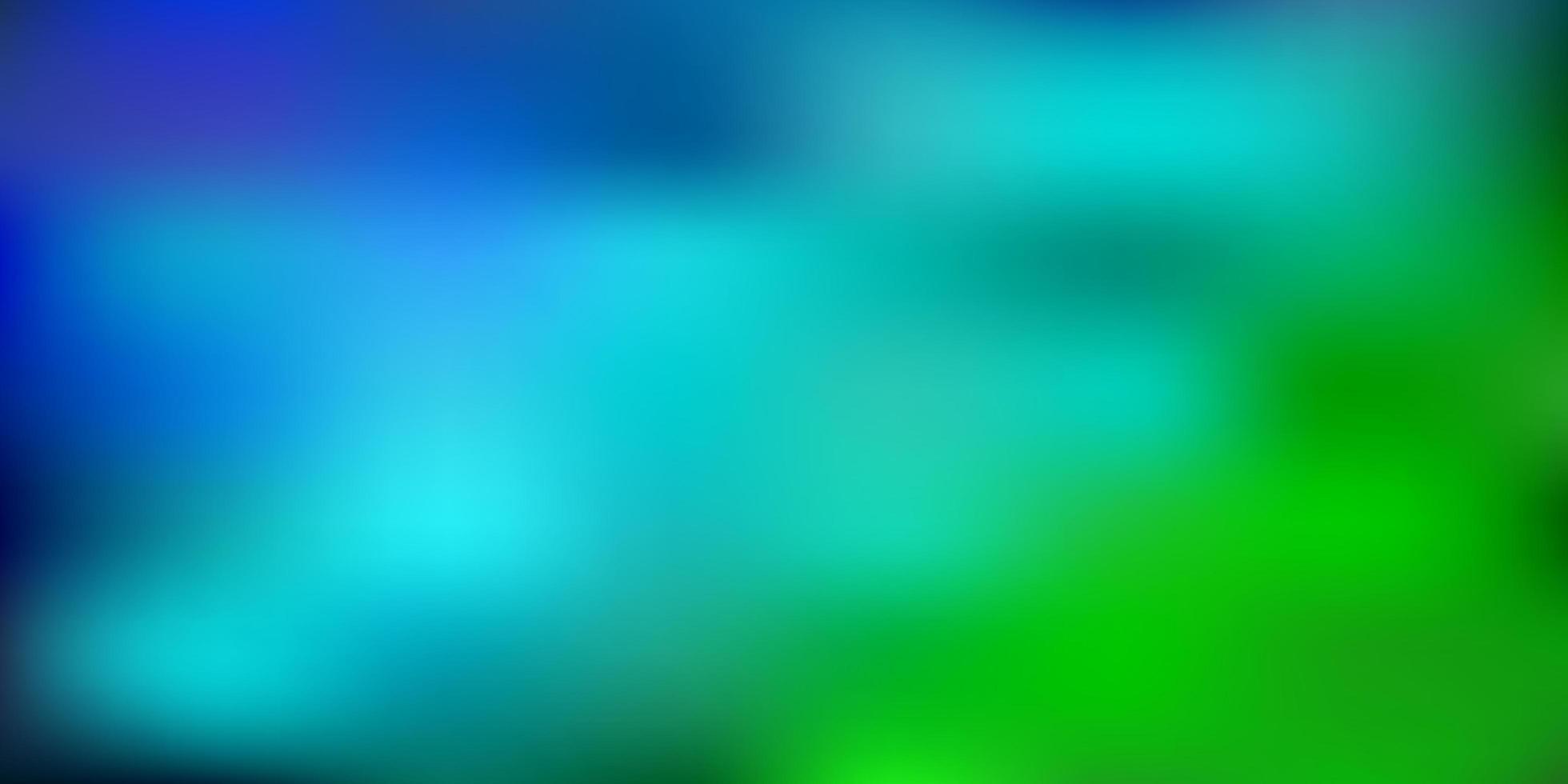 ljusblå, grön vektor suddig bakgrund.