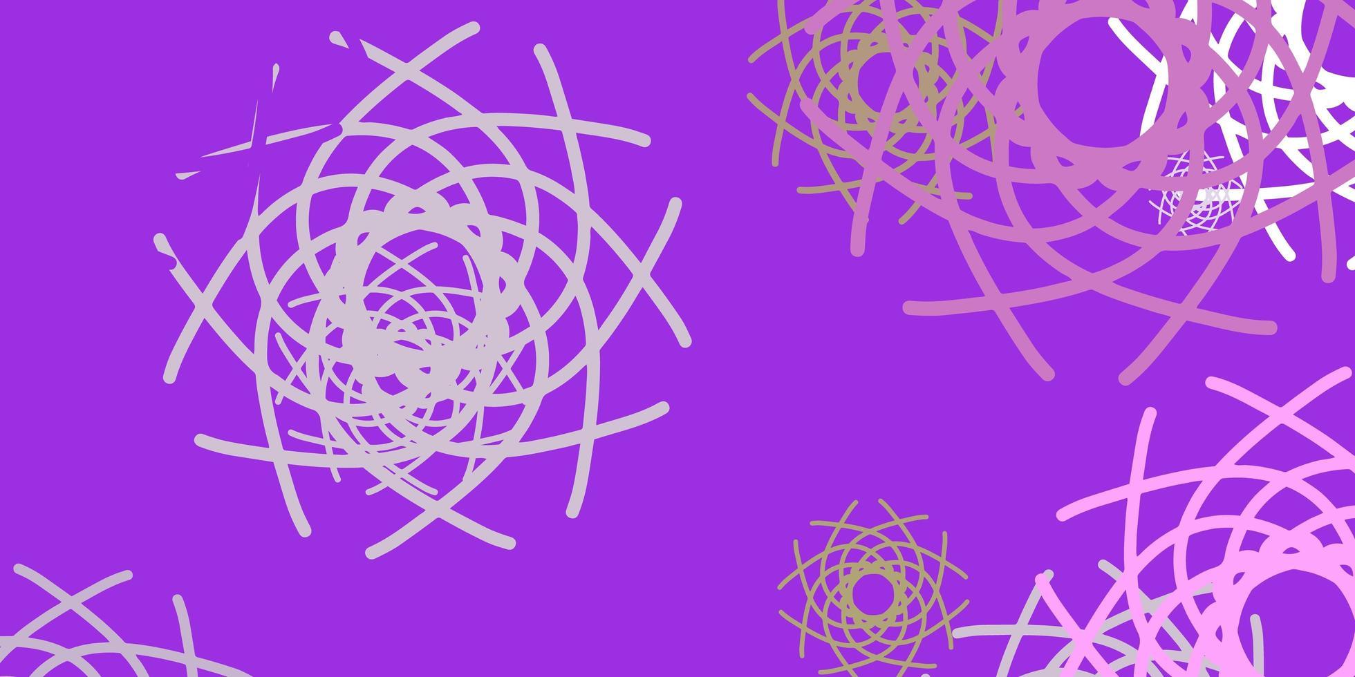hellrosa, grüner Vektorhintergrund mit zufälligen Formen. vektor