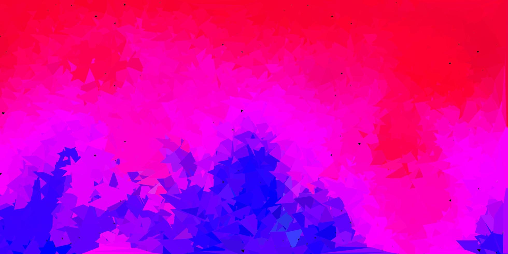 mörkrosa, röda vektor geometriska månghörnigt layout.