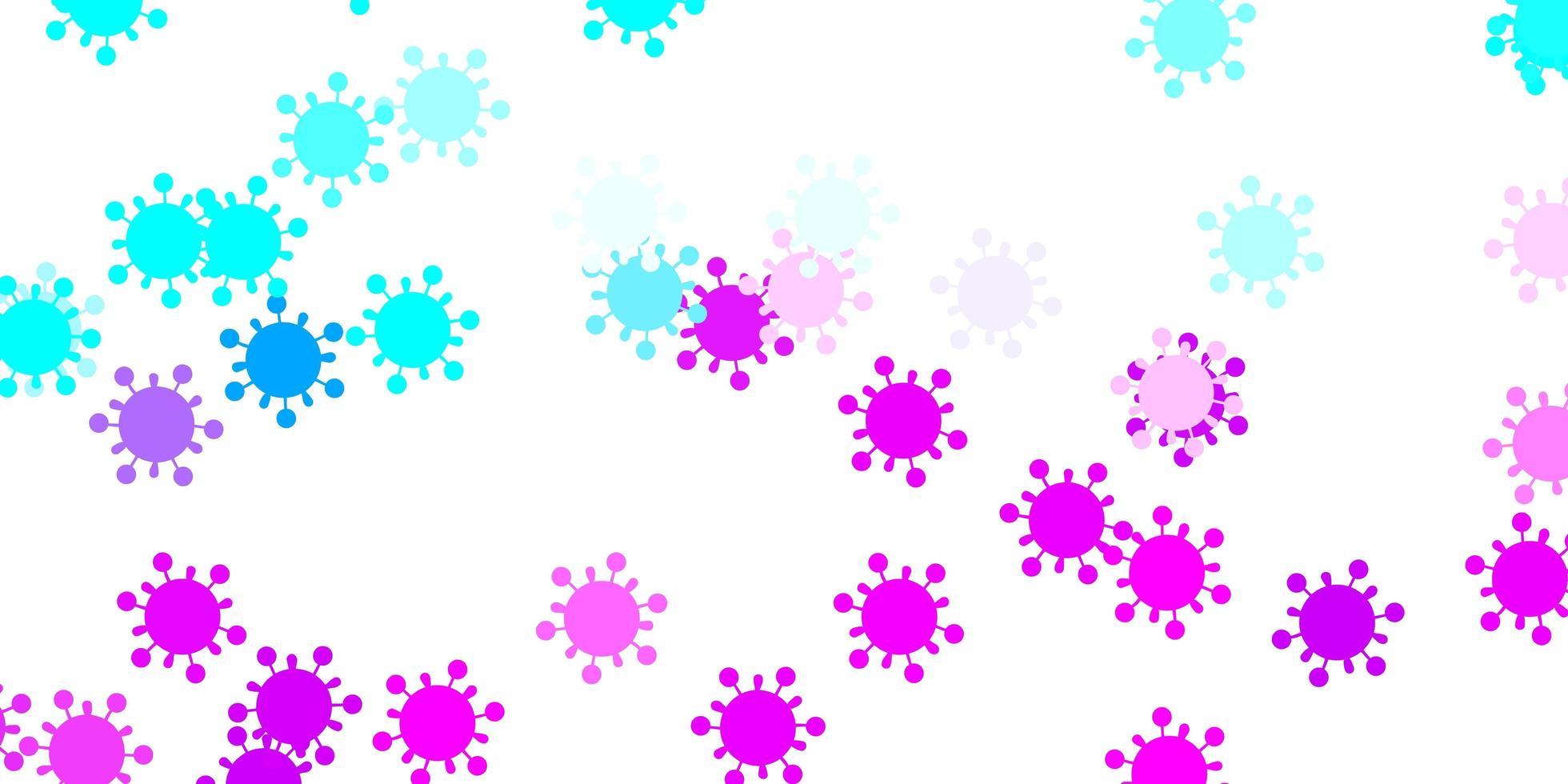 hellrosa, blaue Vektorbeschaffenheit mit Krankheitssymbolen vektor