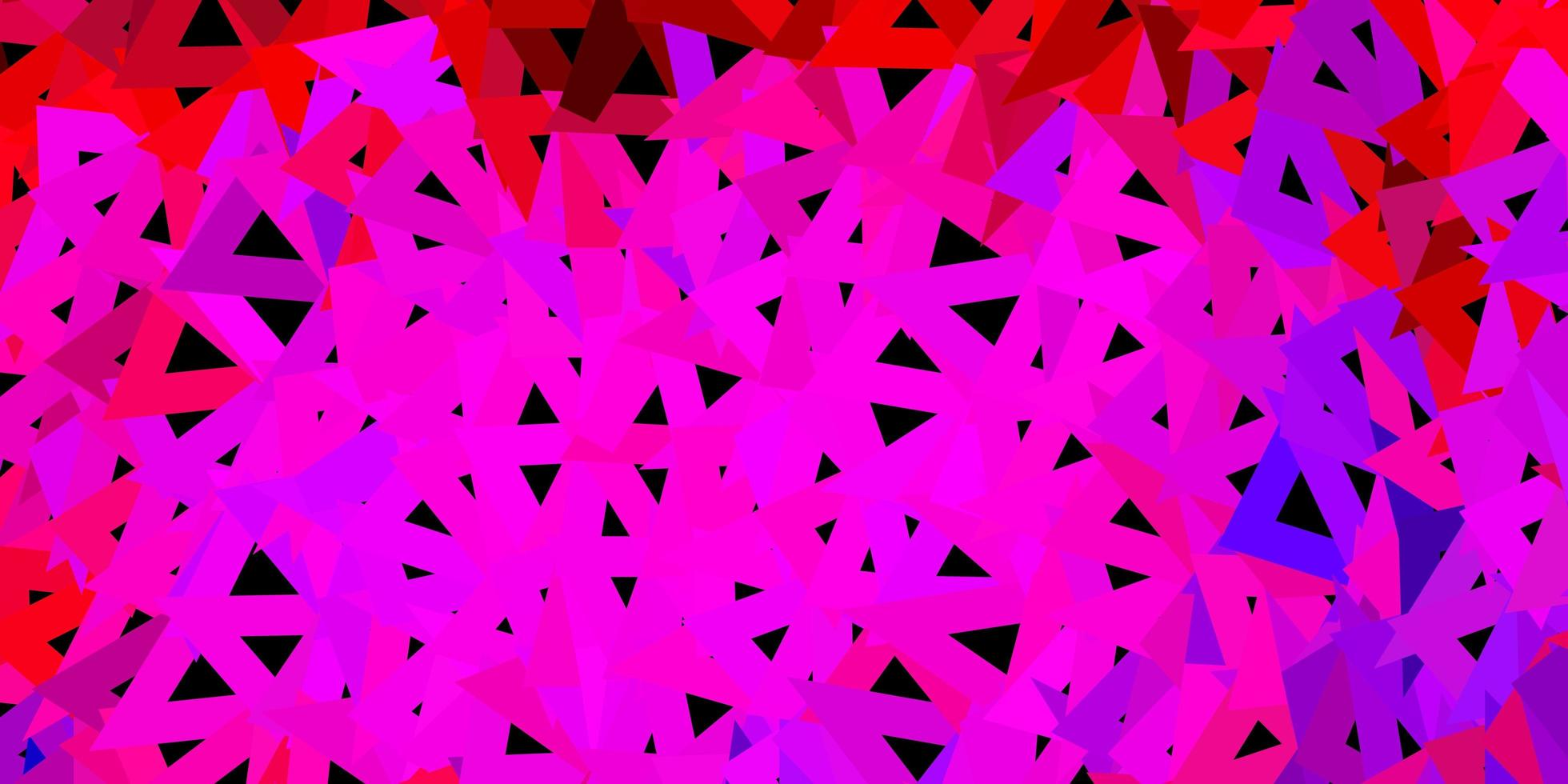 hellrosa, rote Vektor geometrische polygonale Tapete.