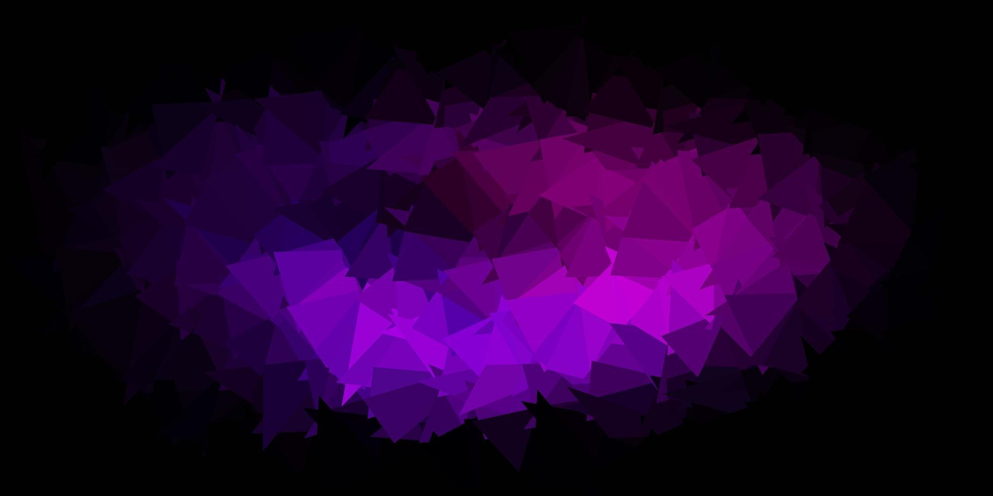 mörk lila vektor gradient polygon tapet.