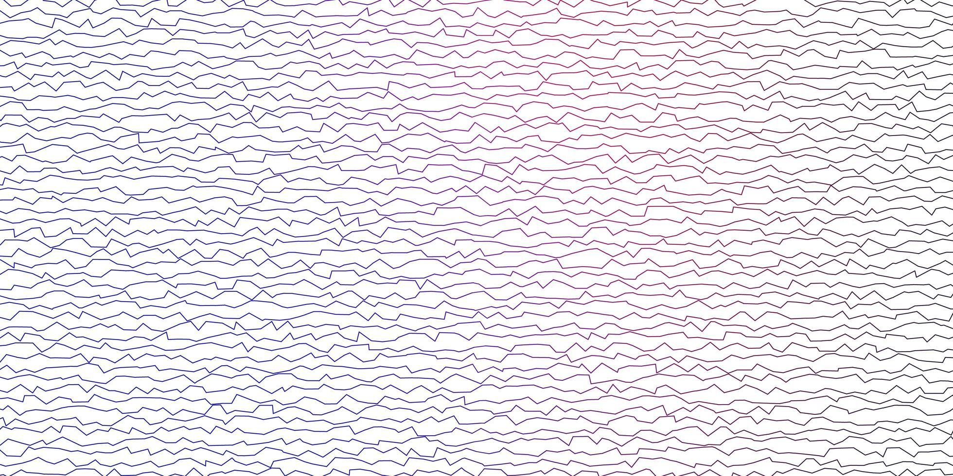 mörkblå, röd vektorbakgrund med böjda linjer. vektor