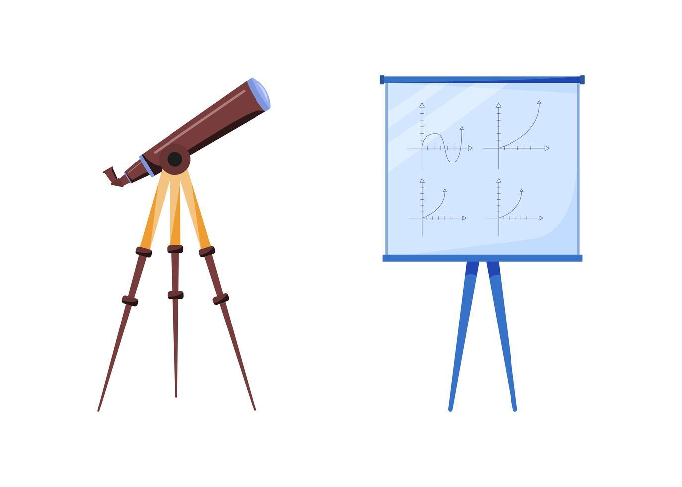 astrologi utrustning platt objekt set vektor
