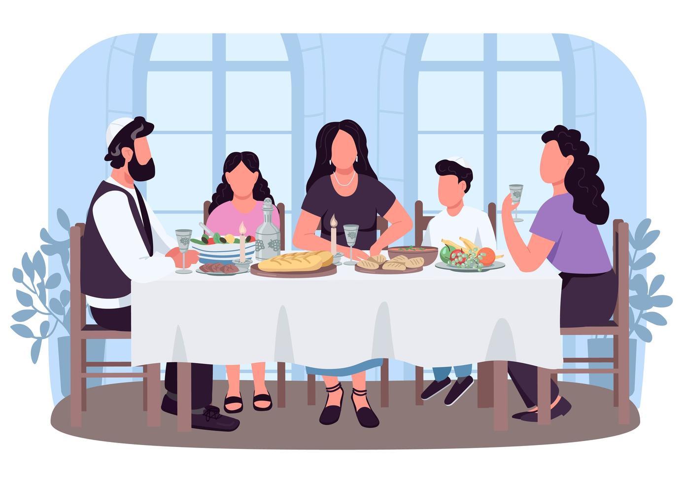 judisk kultur 2d vektor webbbanner, affisch