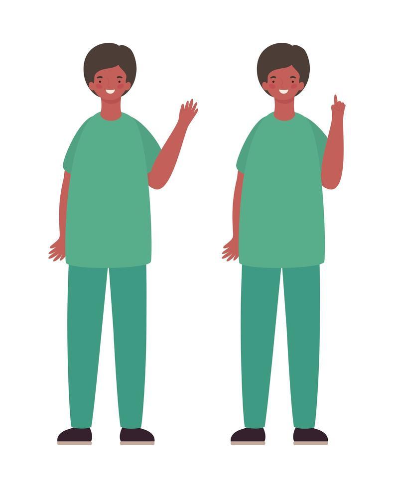 män läkare med uniformer vektor design