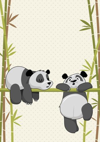 Söt Critters Panda Sleeping vektor