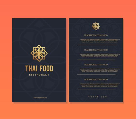 Thai mat restaurang meny mall vektor