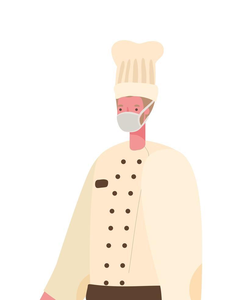 manlig kock med maskvektordesign vektor