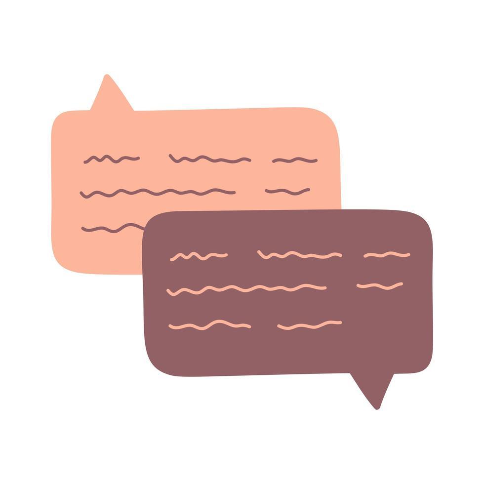 hand Rita chatt dialog tal moln söt vektor illustration abstrakt kommentarer och meddelande samtal på vitt.