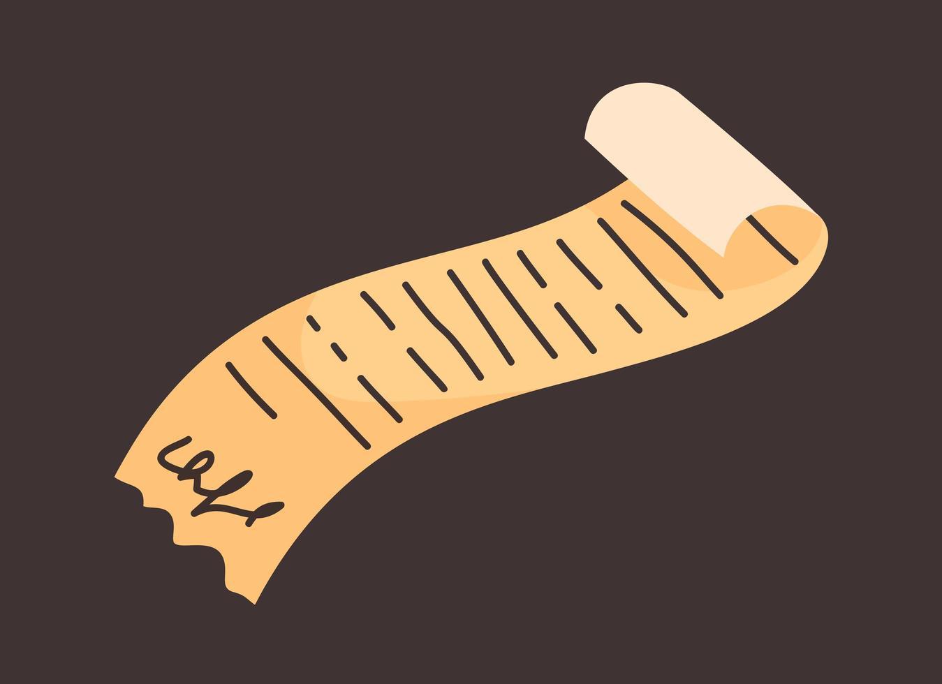 handdrawn doodle dokument ikon. handritad tecken symbol. dekoration element isolerade tecknad platt design. vektor illustration