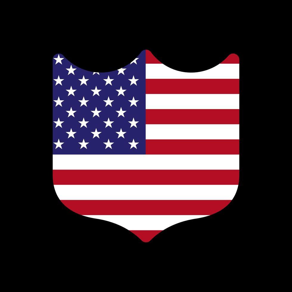 Grafikschildvorlage des Flaggenschilds der Vereinigten Staaten. Lager Illustration vektor