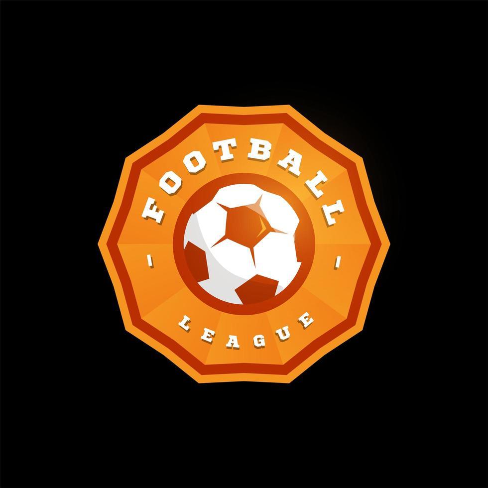 fotboll fotboll cirkulär vektor logotyp. modern professionell typografi sport retro stil vektor emblem och mall logotype design. fotboll färgglada logotyp