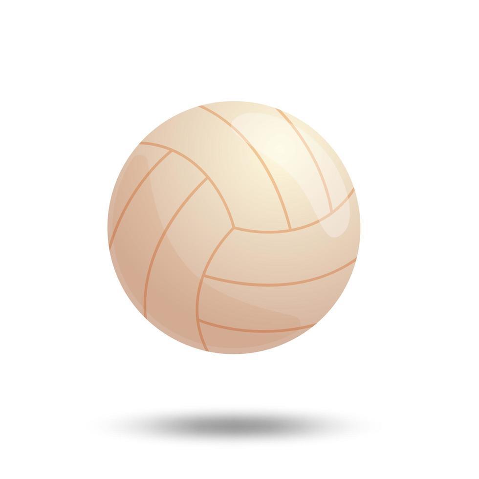 vit volleybollboll isolerad på vit bakgrund. vektor illustration