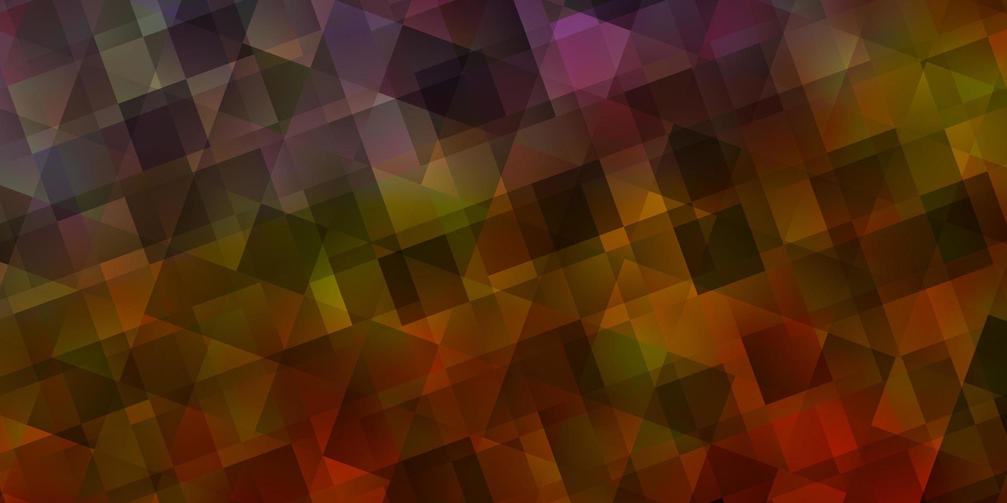 hellblaues, gelbes Vektorlayout mit Linien, Dreiecken. vektor