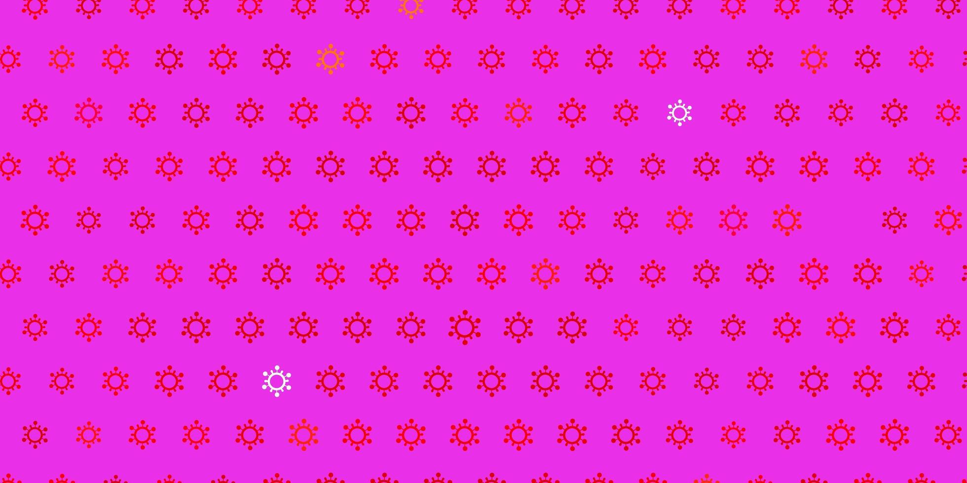 dunkelroter Vektorhintergrund mit covid-19 Symbolen vektor