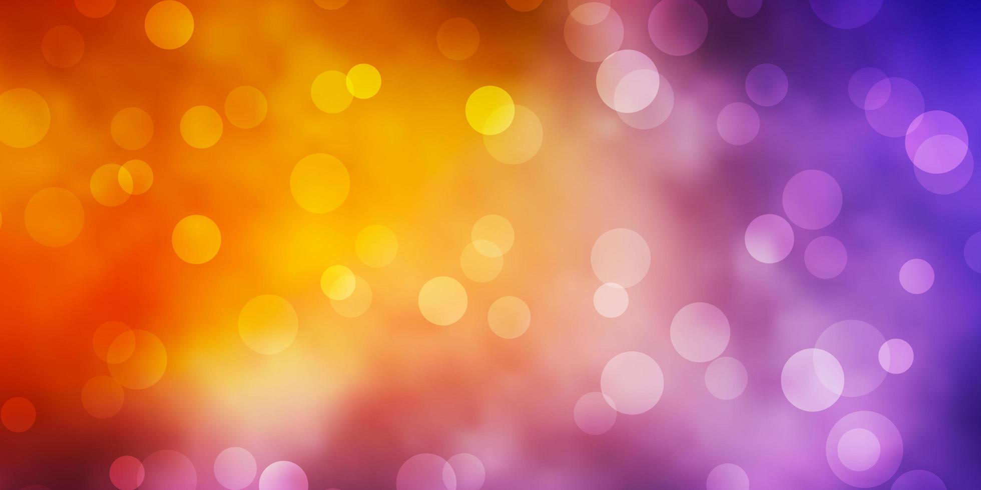 ljusblått, gult vektormönster med cirklar. vektor