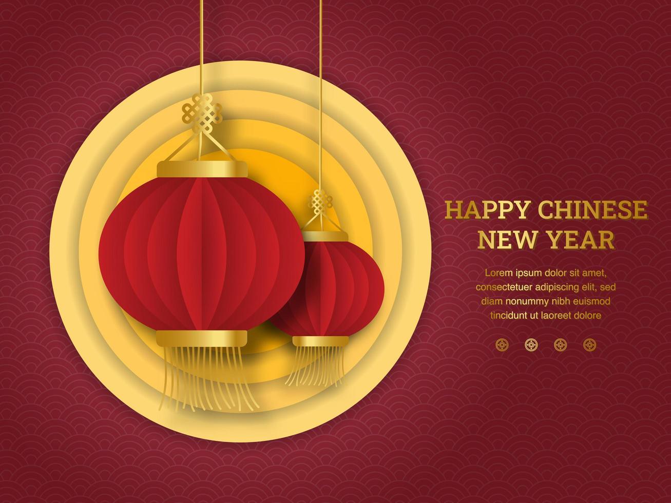 glückliches chinesisches Neujahrsdesign. vektor