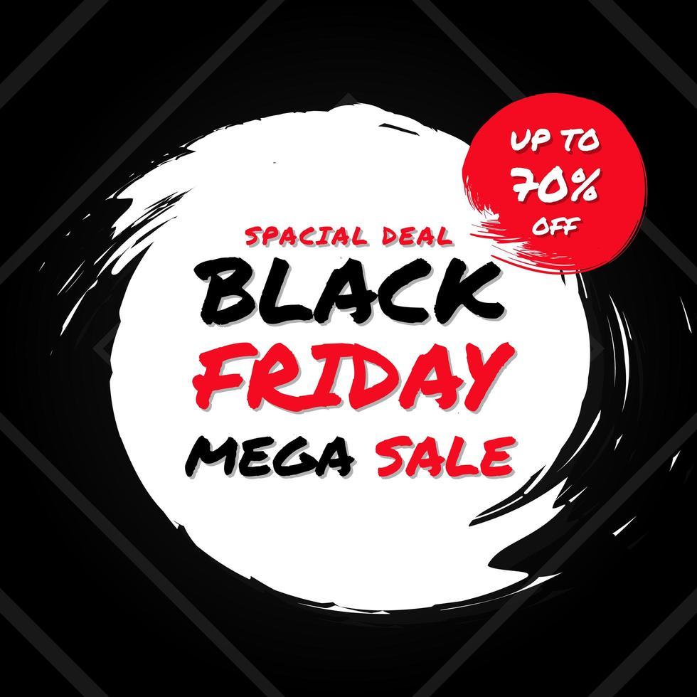 schwarzer Freitag Mega Sale Hintergrund vektor