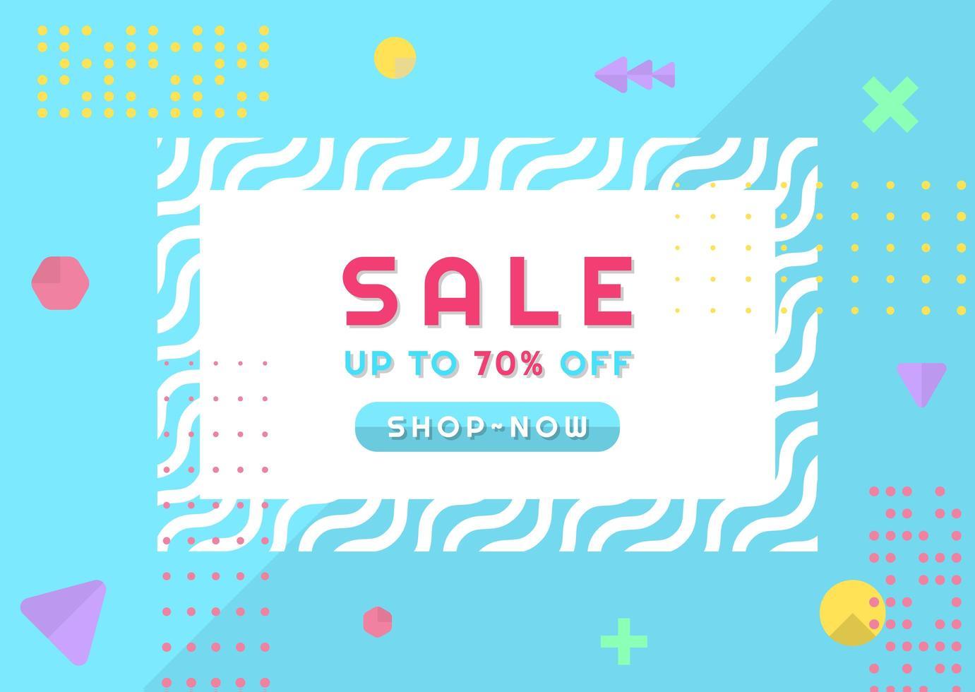 försäljning banner abstrakt geometrisk modern memphis design vektor